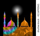 beautiful religious eid... | Shutterstock .eps vector #411690061