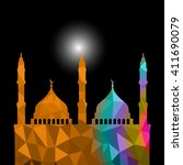 beautiful religious eid... | Shutterstock .eps vector #411690079