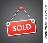 sold sign | Shutterstock .eps vector #411691849