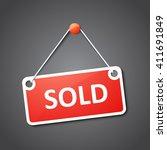 sold sign | Shutterstock .eps vector #411691849