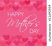 card design for mother's day... | Shutterstock .eps vector #411692959