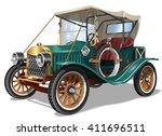 vintage car | Shutterstock .eps vector #411696511