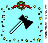 web line icon. axe | Shutterstock .eps vector #411702499