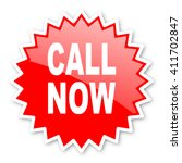 call now red tag  sticker ... | Shutterstock . vector #411702847