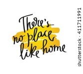 proverb there is no place like... | Shutterstock .eps vector #411711991