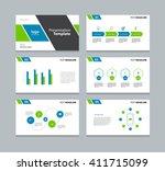 presentation template design... | Shutterstock .eps vector #411715099