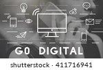 go digital communication... | Shutterstock . vector #411716941