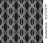 vector seamless chain pattern.... | Shutterstock .eps vector #411717379