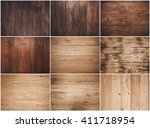 big collection of wood... | Shutterstock . vector #411718954