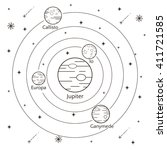 vector illustration of jupiter...   Shutterstock .eps vector #411721585