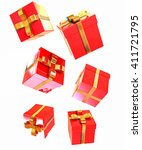 bright christmas gifts on a... | Shutterstock . vector #411721795