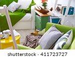 interior of living room  closeup | Shutterstock . vector #411723727