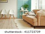 modern room design interior | Shutterstock . vector #411723739