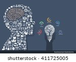vector businessmen brainstorm... | Shutterstock .eps vector #411725005