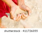 Sand Heart In Someone Hands