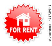 for rent red tag  sticker ... | Shutterstock . vector #411729541