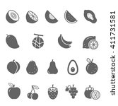 icon set   fruit | Shutterstock .eps vector #411731581