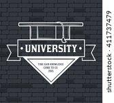university label images vector... | Shutterstock .eps vector #411737479