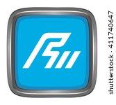3d button flag of ishikawa... | Shutterstock .eps vector #411740647