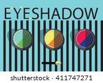 eyeshadow set. flat eyeshadow...   Shutterstock .eps vector #411747271