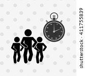 fitness lifestyle design  | Shutterstock .eps vector #411755839