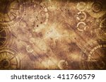 steampunk grunge background ... | Shutterstock . vector #411760579