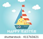 easter chicken on a ship. happy ...
