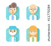 doctors and other hospital...   Shutterstock .eps vector #411770284