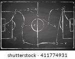 abstract gray black board... | Shutterstock .eps vector #411774931
