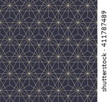 abstract geometric pattern with ... | Shutterstock . vector #411787489