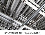 Steel Pipework Close Up