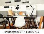 workplace of creative person... | Shutterstock . vector #411809719