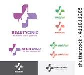 beauty woman medical clinic... | Shutterstock .eps vector #411811285