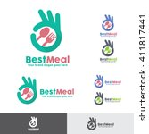 best meal food logo | Shutterstock .eps vector #411817441
