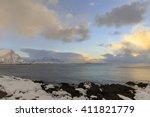 coastal area near valberg on... | Shutterstock . vector #411821779
