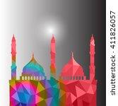 beautiful religious eid... | Shutterstock .eps vector #411826057