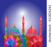 beautiful religious eid... | Shutterstock .eps vector #411826261