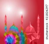 beautiful religious eid... | Shutterstock .eps vector #411826297