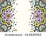 morocco abstract disintegration ...   Shutterstock .eps vector #411830965
