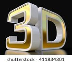 3d logo isolated on white... | Shutterstock . vector #411834301