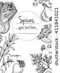 herbs. spices. italian herb... | Shutterstock .eps vector #411841021