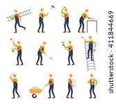 repairs  construction builder... | Shutterstock .eps vector #411844669