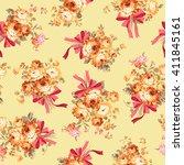rose flower pattern | Shutterstock .eps vector #411845161