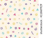 geometric sweets seamless... | Shutterstock .eps vector #411869929