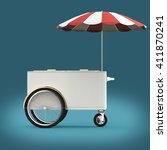 promotion counter on wheels...   Shutterstock . vector #411870241