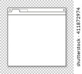 opened browser window template. ...