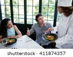 couple complaining about the...   Shutterstock . vector #411874357