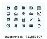 office icon set vector...   Shutterstock .eps vector #411883507