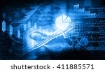 financial chart and graphs...   Shutterstock . vector #411885571