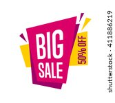 big sale tag bitmap isolated.... | Shutterstock . vector #411886219